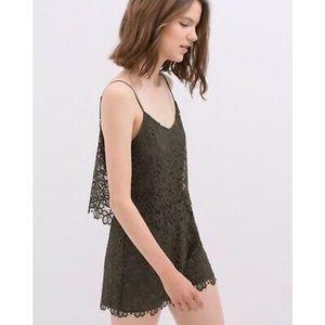 Zara Crochet Lace Romper